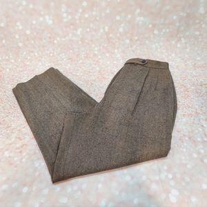 VTG 90's PENDLETON Tweed Cropped High-Waist Pants